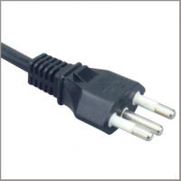 Quality Uc/Inmetro AC Power cable with 3-pin plug, Brasil home appliance power supply cords for sale
