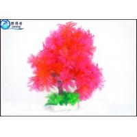 Quality Little Lush Trees Plastic Simulation Fish Tank Plants With Red / Green / Blue Customized for sale