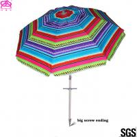 Quality Popular Foldable Sun Beach Umbrella 1.8m / 2.2m For Summer Swimming for sale
