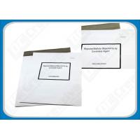 Quality White Puncture Resistance Polythene Envelopes , Waterproof Self-Seal Plastic Shipping Mailers for sale