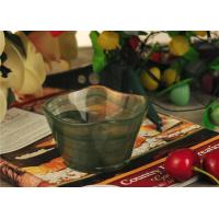 Quality Antique handmade decorative glass bowl candle holder Green material for sale
