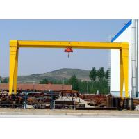 Quality MH Single Beam Adjustable Gantry Crane With Electric Hoist For Stone Marble Handling for sale