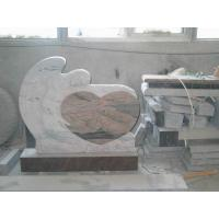Quality Multi Color Angel Memorials Headstone , Custom Granite Headstones With Sculpture for sale