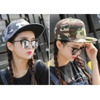 China Cool Custom Caps Hats Embroidery / Camouflage Hip Hop Cap For Girls on sale