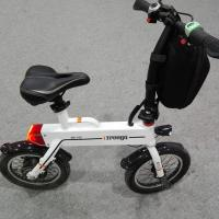 China Green 12 Inch Foldable Electric Scooter , Mini Smart Bike 25 km / h on sale