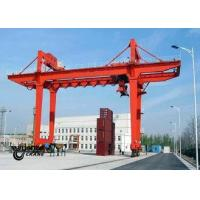 Quality Safety Container Gantry Crane , Rail Mounted Gantry Crane Low Energy Consumption for sale