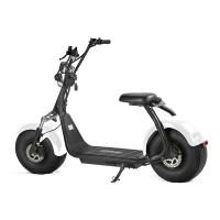 Quality EcoRider 60V 12Ah chinese Lithium Battery Citycoco 2 Wheel Electric Scooter , 18 Inch Fat Tyre Electric Scooter for sale