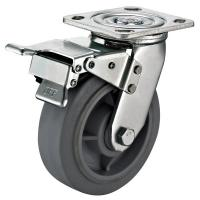 """Quality 8""""X2"""" Industrial Swivel Plate Casters / Double Heavy Duty Locking Swivel Casters for sale"""