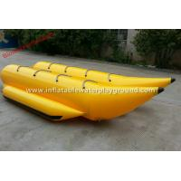 Quality 8 Person Inflatable Towables , Yellow Jet Ski Towables With Durable Handles for sale