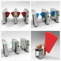 Quality RFID Turnstiles Flap Gate Barrier , Automatic Optical Turnstile Access Control for sale