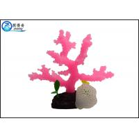 Buy Eco-friendly Aquarium Tank Decorations Silicone Coral Ornament For Fish Tank at wholesale prices