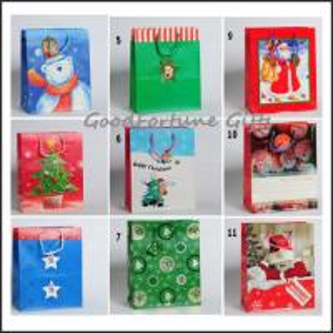 promotion chridtmas gift wrapping printed handbag souvenir
