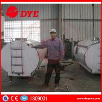 Quality Large Milk Tank Horizontial Milk Transportation Tank SS304 / 316L for sale