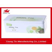 Quality Custom Rectangle Metal Tea Tins Printed and Embossed Container With Lids for sale