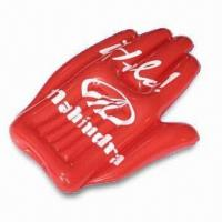 Quality 41 x 80cm Inflatable Hand, Made of PVC, Suitable for Promotional Purposes for sale
