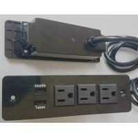 Quality 5V 2.4A & 1A  3 Way Desktop Power Outlet With Usb Charging For Tablet / Power Bank for sale