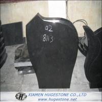 Quality Tombstone & Monuments, Polished Absolute Black Granite Tombstone for sale