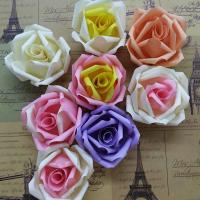 China DIY Wedding Small Fabric Craft Flowers 8 Colors Decorative Flat On Back on sale