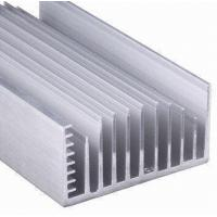 Quality Clear Anodized 6063-T5 Aluminum LED Heat Sink Extrusion Profiles With Tapping , Stamping for sale