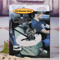 Quality Foldable Car Booster Seat Pet Dog Basket Cage Carrier Bag for Buckle Hanging Car Bucket Seat Safety Leash Carrying Strap for sale