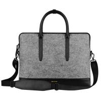 Quality Environmental Large Messenger Business Laptop Bags Wool Felt with Leather Handle / Bottom for sale