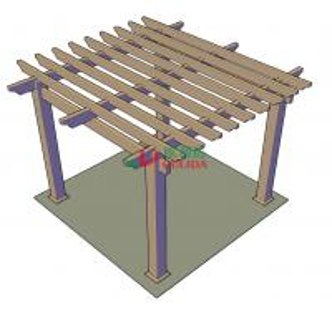 China DIY wood plastic composite pergola Construction for garden / 4mx4mx3m / OLDA-5001B on sale