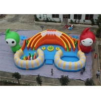 China 0.9mm Outdoor Inflatable Water Slide With Obstacle on sale