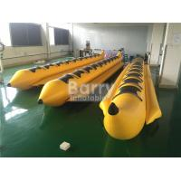 China Yellow 8 Seats Inflatable Toy Boat Water Game Banana Boat Inflatable Water Toy on sale