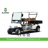 Quality Multipurpose 4 Passenger Club Car Electric Golf Buggy With Rear PP Plastic Cargo Box for sale