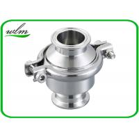 Quality Portable Clip - On Sanitary Check Valve With Clamp Connection End , Finely Finished Surface for sale