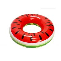 Quality PVC Watermelon Inflatable Swim Ring Pool Float  46 X 46 X 10 Quick Inflation for sale