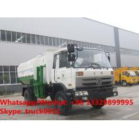 Quality Factory sale cheaper price Dongfeng 4*2 LHD side loader garbage truck, HOT SALE! good price wastes collecting vehicle for sale