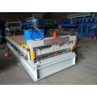 Colored Steel Plate Corrugated Roof Sheeting Machine Automatic Length Cutting