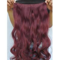 Quality Silky Korea Clip In Synthetic Hair Extensions Heat Resistant Natural Looking for sale