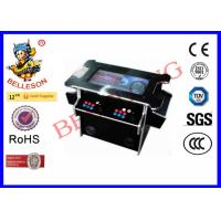 Classic Sticker Cocktail Table Arcade Machine , Black Coin Operated Game Machines
