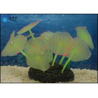 Buy Colorful Silicone Soft Aquarium Tank Decorations , Flower Coral Jellyfish Tank at wholesale prices