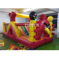 Quality OEM 0.55 mm PVC Tarpaulin Inflatable Angry Bird Bouncy Castle Strong Sewing for sale