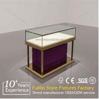 Buy cheap Free to turn glass jewelry display cabinet made in china from wholesalers