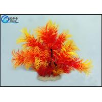 Buy Professional Colorful Plastic Artificial Aquarium Plants 10 Inch For Decorating at wholesale prices