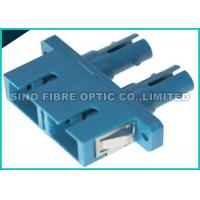 Quality Multimode SC to SC Adapter Hybrid Duplex Fiber Optic Connector Polymer Sleeve, for sale