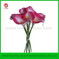 """Quality 13"""" Wedding Flower of PU Calla Lily Bouquet x 7 for sale"""