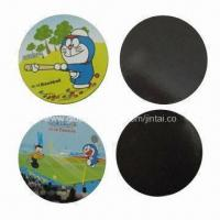 Quality Refrigerator magnets, made of paper or rubber in round shape, OEM orders are welcome for sale