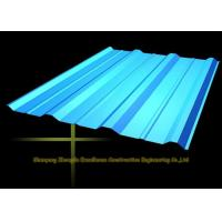 Quality Long Span Color Coated Metal Corrugated Roofing Sheets / PPGI Roof Steel Panels for sale