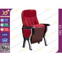 Quality Fabric/Leather Auditorium Furniture Church Hall Chairs With Damper Mechanism for sale