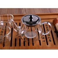 Quality Heat Resistant Borosilicate Glass Teapot with Infuser Lid Coffee Tea Leaf Herbal 360ML for sale