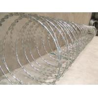 Quality Hot dipped galvanized razor wire mesh with 980mm outer diameter for sale