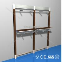 Quality customized freestanding wooden display unit/ shoe shelf/clothes for sale
