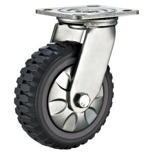 Quality 8'' Heavy Duty Trolley Caster Wheels , Plate Heavy Duty Steel Swivel Casters for sale