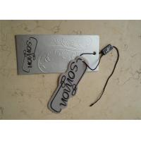 Quality Cardboard Swing Custom Garment Tags Paperboard Material Full Color For Luggage for sale