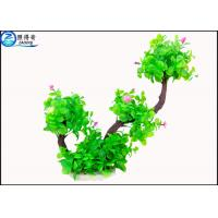 Quality Two Branch Plastic Tree Artificial Aquarium Plants With Small Flowers For Decoration for sale